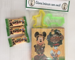 30 Kit massinha com 2 moldes c /100 balas mickey safari