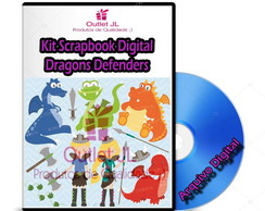 Kit Scrapbook Digital - Dragon Defenders