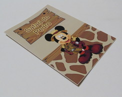 Revista para Colorir - Mickey Safari