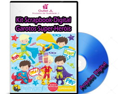 Kit Scrapbook Digital - Garotos Super-Heróis