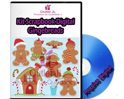 Kit Scrapbook Digital - GingerBread Natalino