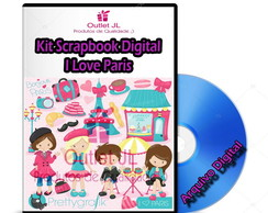 Kit Scrapbook Digital - I Love Paris