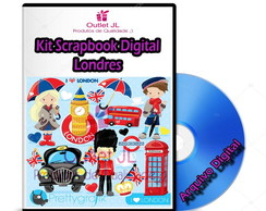 Kit Scrapbook Digital - Londres