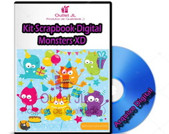 Kit Scrapbook Digital - Monsters XD