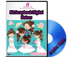 Kit Scrapbook Digital - Noivas