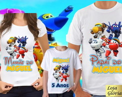 KIT CAMISETA PERSONALIZADA SUPER WINGS C/8