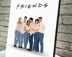 Quadro Decorativo A4 Friends