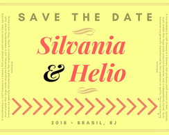 Convite Save the Date - Modelo Silvania / design digital