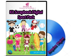 Kit Scrapbook Digital - Sports Pack