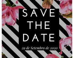 Convite Save the Date- Modelo Ana/ design digital