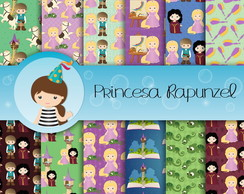 Papel Digital Princesa Rapunzel