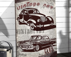 Placas Decorativas Em Mdf 20x30 Vintage Car Club