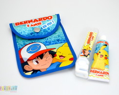 Kit Dental c/ porta escova Pokemón