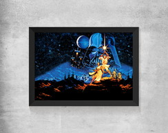 Quadro Star Wars - Luke, Leia e Darth Vader