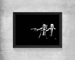 Quadro Star Wars Pulp Fiction - Vaderfett