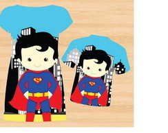 Pronta Entrega! Camiseta infantil M Super Man Kids