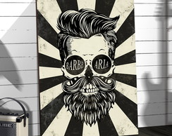 Placas Decorativas Em Mdf 20x30 Caveira Barbearia Rock