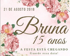 Convite Save the Date - Modelo Bruna / design digital