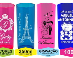 Kit 100 Copos Long Drink Personalizado