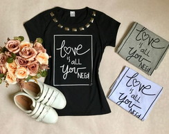 Camiseta Baby Look Love Pedraria