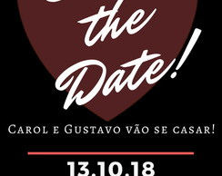 Convite Save the Date - Modelo Carol / design digital