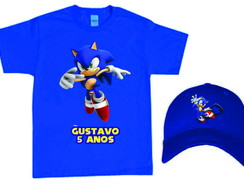 Camiseta e Boné do Sonic
