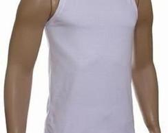 9127307144 Camiseta Regata Masculina Branca Personalizada no Elo7