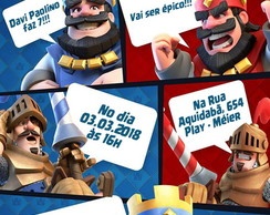 Convite Digital Clash Royale