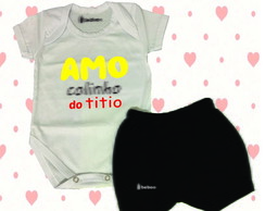 Conjunto - Amo o colinho do titio