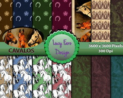 Kit Digital Scrapbook - CAVALOS
