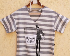 T-shirt Feminina - Coffee