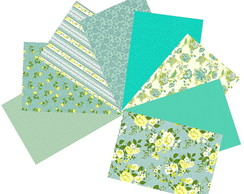 Kit Tecidos AcquaMarine Patchwork 25x35