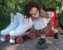 Boneca country patinadora