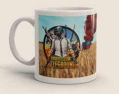 Caneca Pubg Playerunknown's Battlegrounds + Seu Nick Gamer