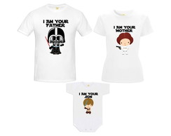 Camiseta Darth Vader Princesa Leia Luke You Are My Father