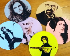 Mousepad Com Personagem de Filmes e Séries