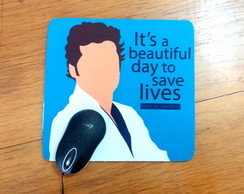 "Mousepad ""It's a beautiful day to save lives"" Greys Anatomy"