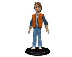 Boneco Toy Art do Marty McFly De Volta para o Futuro para co