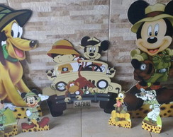 KIT MICKEY SAFARI E SUA TURMA --- MDF