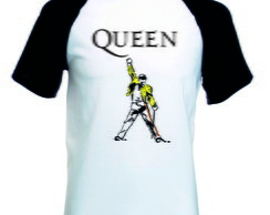 Camiseta Raglan Manga Curta Queen Banda Rock