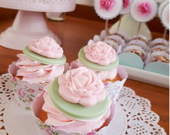 SAIA WRAPPER MINI CUPCAKE - PARIS FLORAL