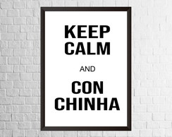 Quadro Keep Calm and conchinha