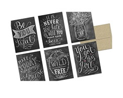 Envelopes e Cards Chalckboard