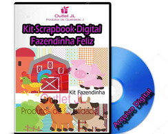 Kit Scrapbook Digital - Fazendinha Feliz