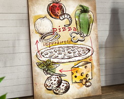 Placas Decorativas Em Mdf 20x30 Pizza Ingredients