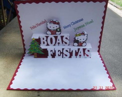 10105d - Boas festas Hello Kitty