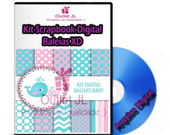 Kit Scrapbook Digital - Baleias XD