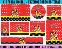 kit festa digital mickey - 10 artes