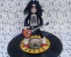 Escultura Slash do Guns Roses em Biscuit