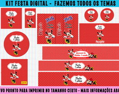 kit festa digital Minnie - 10 artes